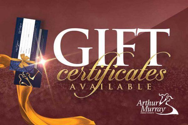 Arthur Murray Gift Certificates